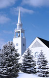 Church in Winter stock image