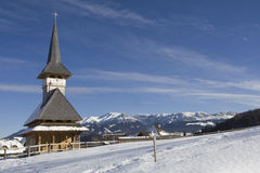 Church by winter Royalty Free Stock Images