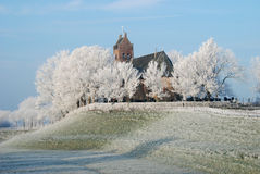 Church by Winter. This Church is fotographed in the winter Stock Photography