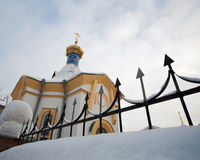 Church. Winter. Stock Photography