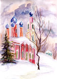 Church in winter Stock Images