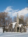 Church and winter day Stock Photo