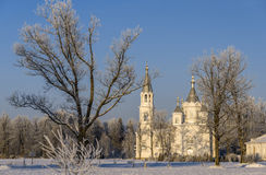 Church in winter day Stock Images