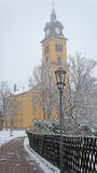 Church in the winter Stock Images
