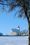 Church in Winter Landscape Royalty Free Stock Image
