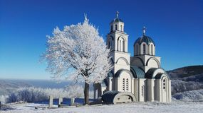 Church. Winter, sun, landmark, cold royalty free stock photography