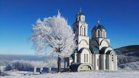 Church. Winter, sun, landmark, cold Royalty Free Stock Photography