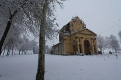Church in winter time Stock Photography