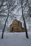 Church in winter time Royalty Free Stock Photo