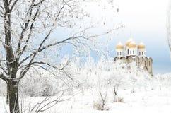 Church in winter Stock Photo
