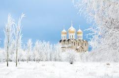 Church in winter Royalty Free Stock Photos