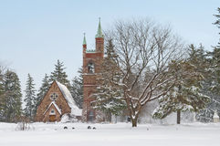 Church in a Winter Wonderland Stock Photography