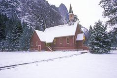Church in Winter, Yosemite Valley, California Royalty Free Stock Photos