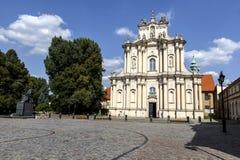 The Church of Wizytek, Warsaw Stock Image