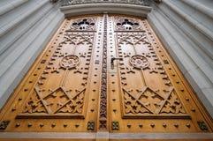 Church wooden door Stock Photo