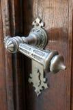 Church wooden door. Ancient church wooden door with lock royalty free stock photo