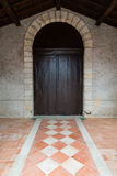 Church wooden door Stock Images