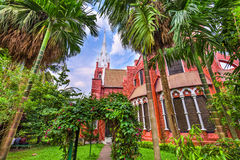 Church in Yangon. St. Mary`s Cathedral in Yangon, Myanmar Royalty Free Stock Image