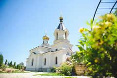 Church with Yard Royalty Free Stock Photos
