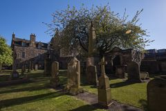 Church yard of the Kirk of Canongate Royalty Free Stock Image