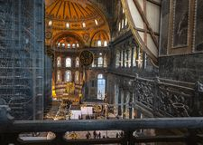 03,23,2019,Sultanahmet,istanbul,Turkey,Hagia Sophia used as church and mosque. The church for 916 years, 481 years as a mosque in the service of both royalty free stock photos