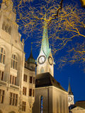 Fraumunster Church In Zurich At Sunset Royalty Free Stock Photos