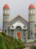 Church in Zarcero, Costa Rica. Catholic Church in the town square in Zarcero, Costa Rica Stock Photo