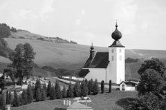 The church in Zehra, Slovakia. The church from 13th century in Zehra, Slovakia, registered in the list of UNESCO royalty free stock photos