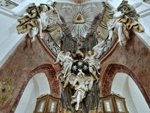 Church Zelena Hora, Baroque sculpture, UNESCO Royalty Free Stock Photography