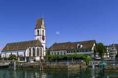 Church on Zurich lake, Switzerland Stock Photography