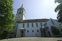 Church in Zurich, Switzerland stock images