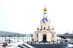 Church1. Russian orthodox church in Belgorod, Russia, winter Stock Images