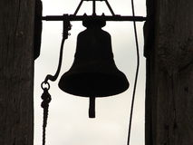 churchbell σκιαγραφία Στοκ φωτογραφίες με δικαίωμα ελεύθερης χρήσης