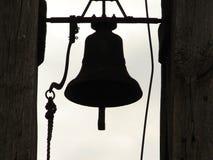 churchbellsilhouette Royaltyfria Foton