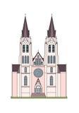 Churchbuilding изображения вектора римско-католический бесплатная иллюстрация