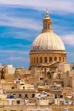 Churche της κυρίας υποστηρίγματός μας Carmel, Valletta Στοκ Φωτογραφία