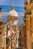 Churche της κυρίας υποστηρίγματός μας Carmel, Valletta Στοκ φωτογραφίες με δικαίωμα ελεύθερης χρήσης