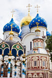 Churches. In Sergiev Posad - One of the greatest Russian monasteries not far from Moscow stock photos