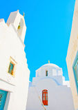2 churches in Amorgos Royalty Free Stock Images