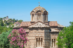 Churches in Athens, Greece. Royalty Free Stock Images
