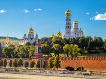 Churches and cathedrals in Moscow Kremlin Royalty Free Stock Photography