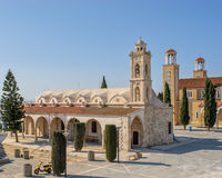 Churches on central square of small town. Cyprus Royalty Free Stock Photo