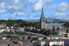 Churches of Derry in Northern Ireland Stock Photography