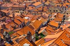 Rooftops in Dubrovnik, Croatia Stock Photo