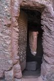Churches excavated in the rock of Lalibela. Ethiopia. stock images