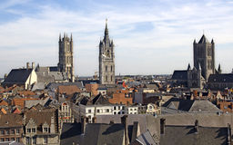 Churches of Ghent Royalty Free Stock Image