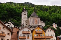 Churches of Hallstatt Churches Royalty Free Stock Photography