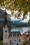 Churches of Hallstatt Stock Photo