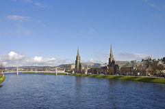 Churches in the heart of Inverness, Scotland Stock Images
