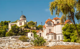 Churches on The Hill. Orthodox Churches on The Hill in Athens Royalty Free Stock Images